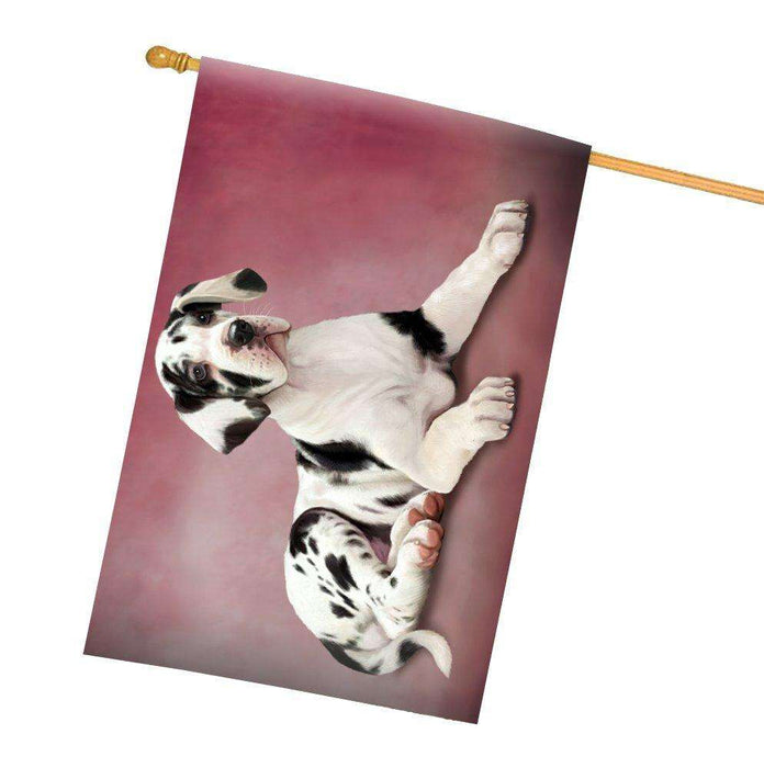 Great Dane Puppy Dog All Weather House Flag