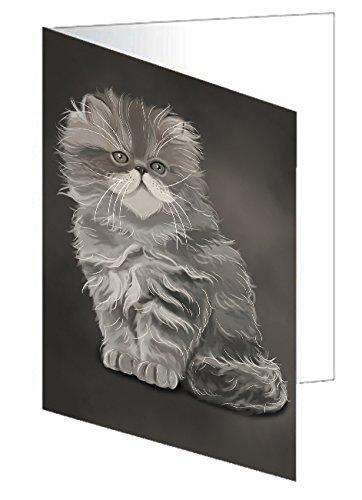 Grey Persian Cat Note Card