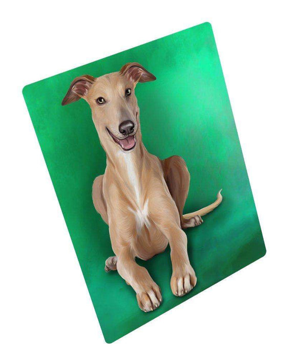 Greyhound Dog Art Portrait Print Woven Throw Sherpa Plush Fleece Blanket