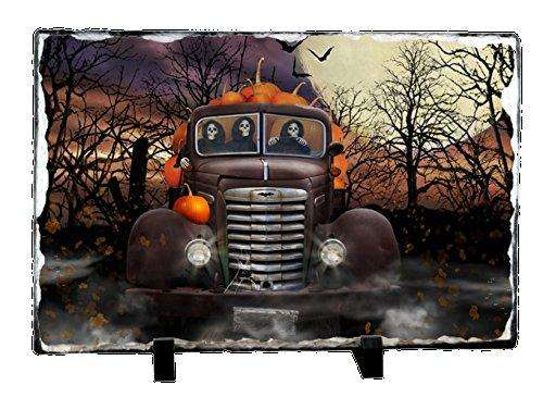 Halloween Ghoulies and Pumpkins Photo Slate