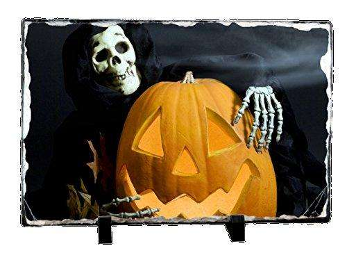 Halloween Pumpkin and Ghoul Photo Slate