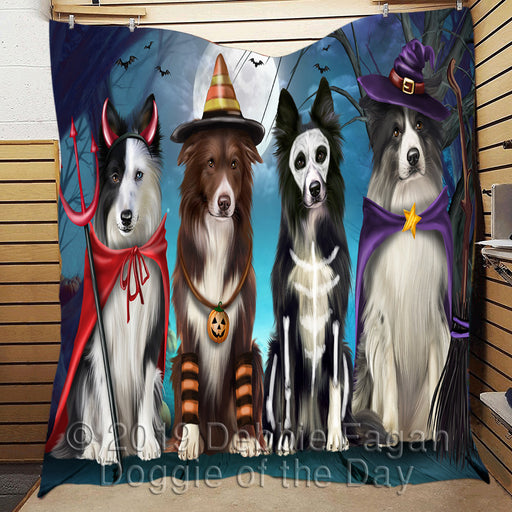 Halloween Trick or Teat Border Collie Dogs Quilt