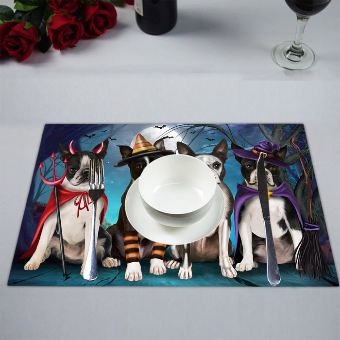 Halloween Trick or Teat Boston Terrier Dogs Placemat