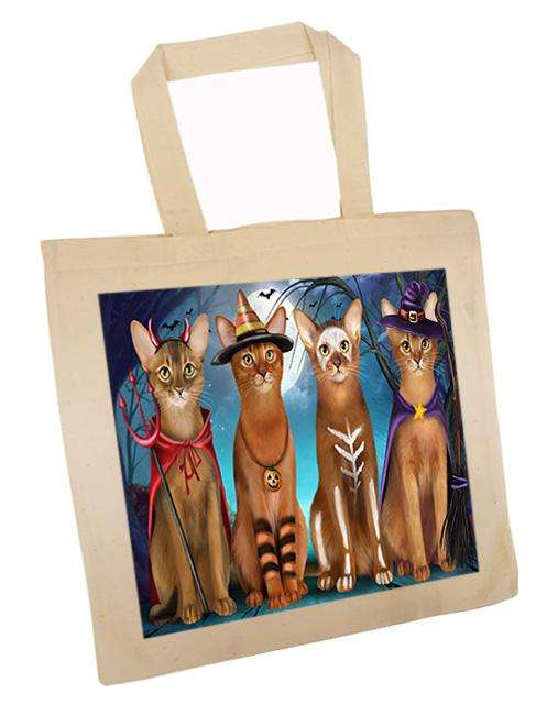 Happy Halloween Trick or Treat Abyssinian Cat Tote TTE52573