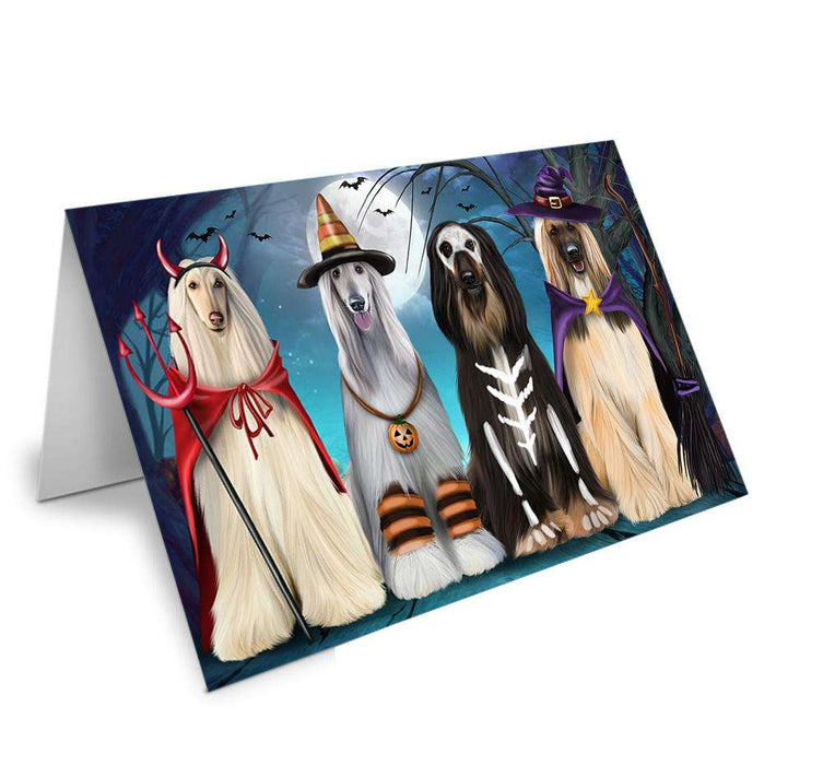 Happy Halloween Trick or Treat Afghan Hound Dog Greeting Card GCD61754