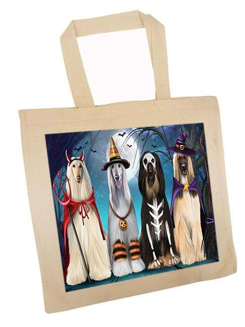 Happy Halloween Trick or Treat Afghan Hound Dog Tote TTE52575