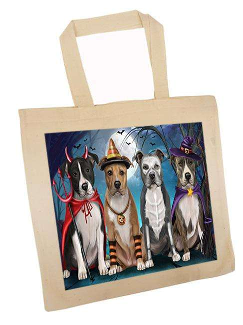 Happy Halloween Trick or Treat American Staffordshire Terrier Dog Tote TTE52577