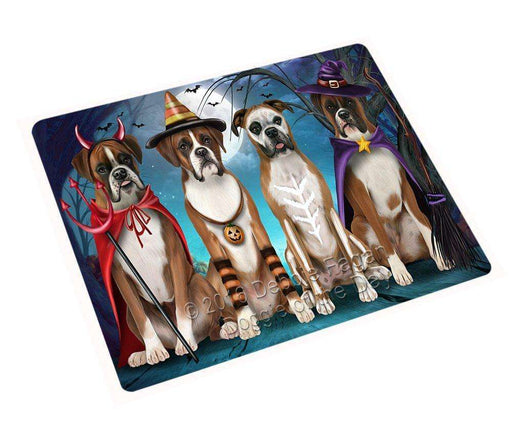 Happy Halloween Trick or Treat Boxer Dog Art Portrait Print Woven Throw Sherpa Plush Fleece Blanket