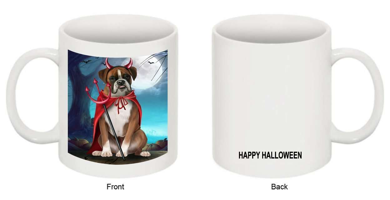 Happy Halloween Trick or Treat Boxer Dog Devil Mug