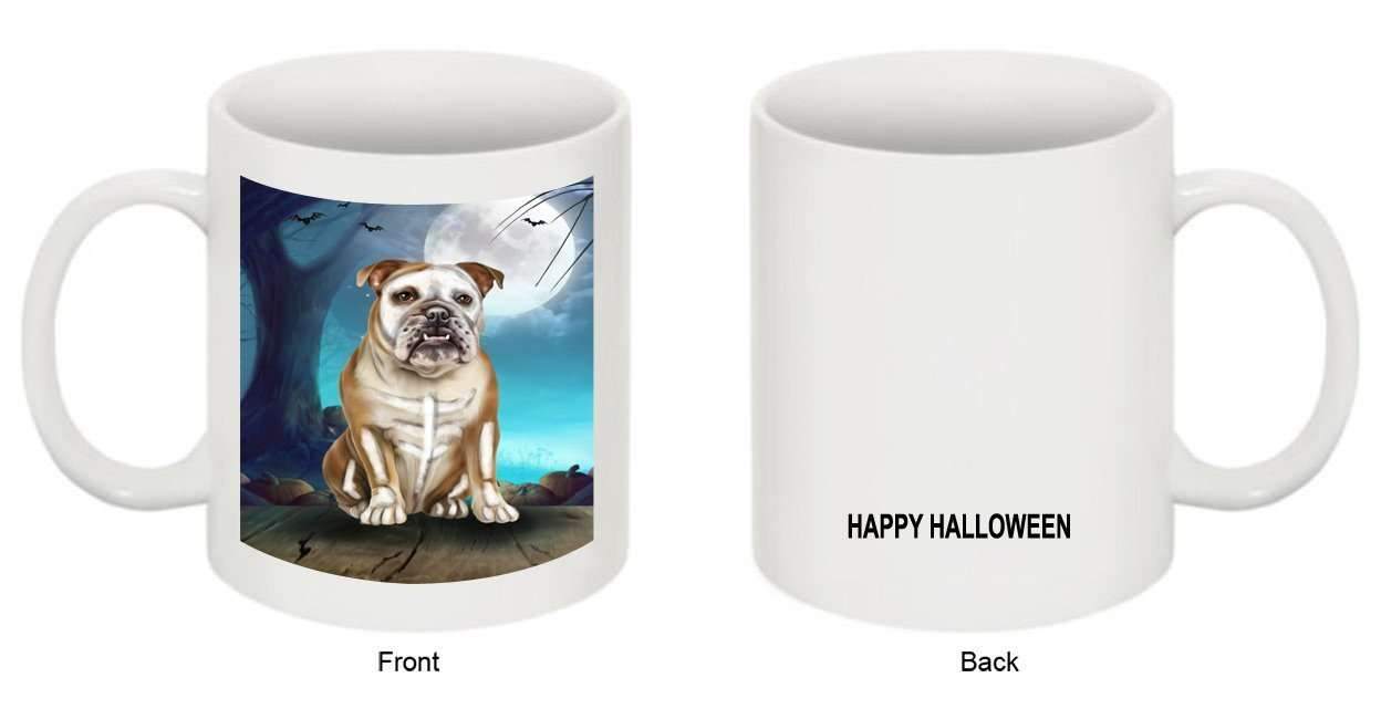 Happy Halloween Trick or Treat Bulldog Dog Skeleton Mug