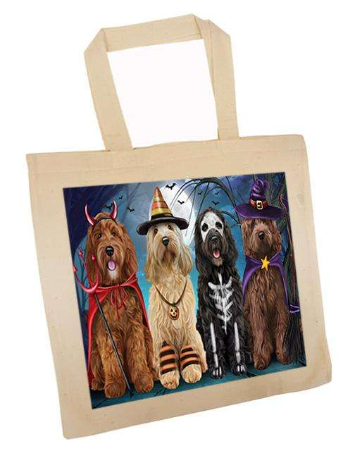 Happy Halloween Trick or Treat Cockapoo Dog Tote TTE52580
