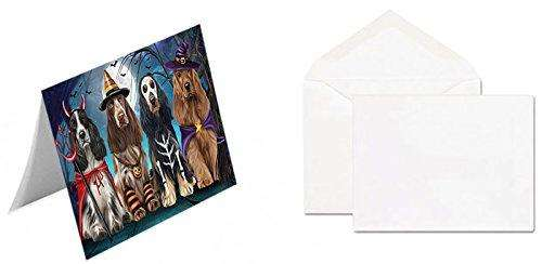 Happy Halloween Trick or Treat Cocker Spaniel Dog Greeting Card