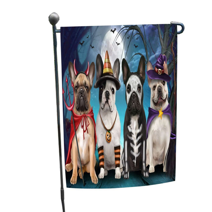 Happy Halloween Trick or Treat French Bulldog Garden Flag