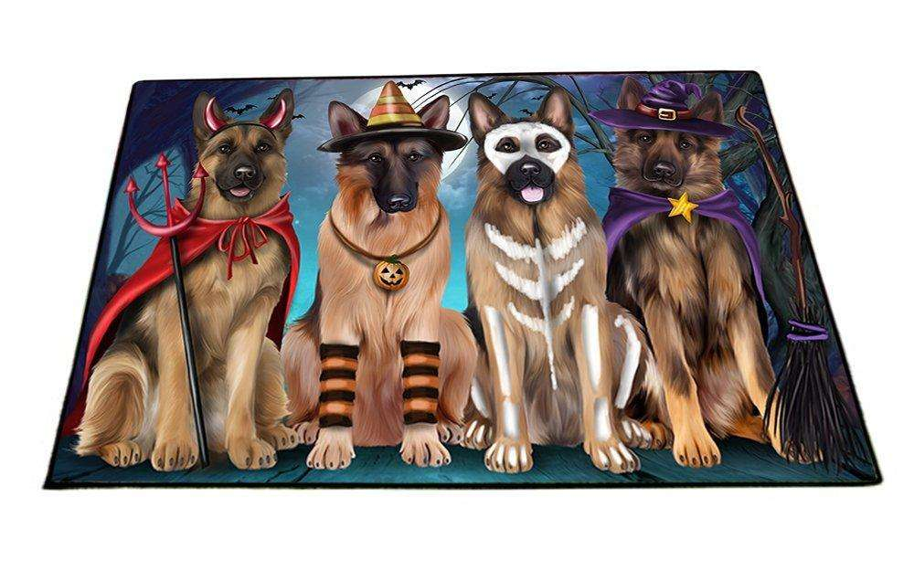 Happy Halloween Trick or Treat German Shepherd Dog Indoor/Outdoor Floormat