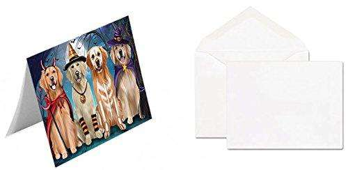 Happy Halloween Trick or Treat Golden Retriever Dog Greeting Card