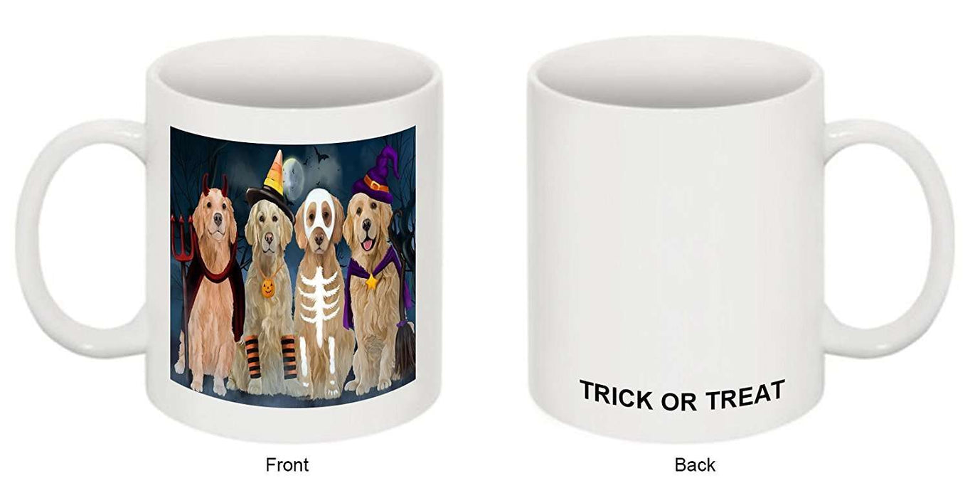Happy Halloween Trick or Treat Golden Retrievers Dog in Costumes Mug