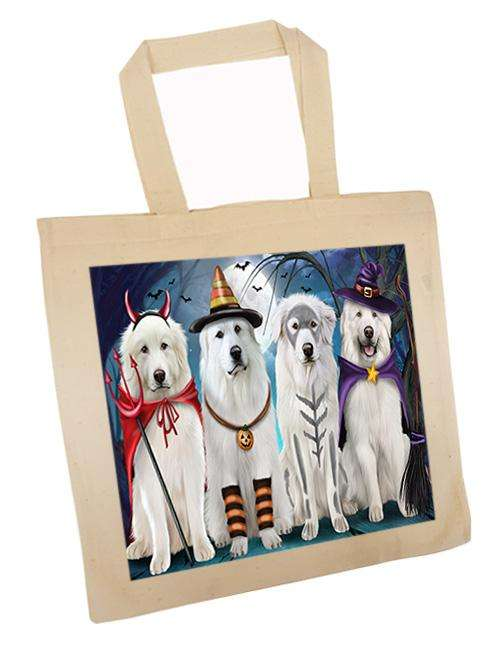 Happy Halloween Trick or Treat Great Pyrenee Dog Tote TTE52582