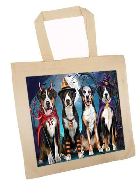 Happy Halloween Trick or Treat Greater Swiss Mountain Dog Tote TTE52583