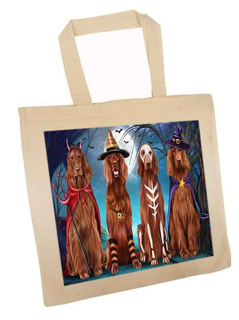 Happy Halloween Trick or Treat Irish Setter Dog Tote TTE52584