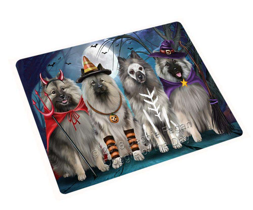 "Happy Halloween Trick Or Treat Keeshond Dog Magnet Small (5.5"" x 4.25"") mag61848"