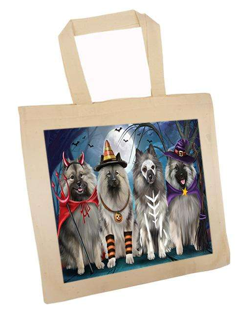 Happy Halloween Trick or Treat Keeshond Dog Tote TTE52585