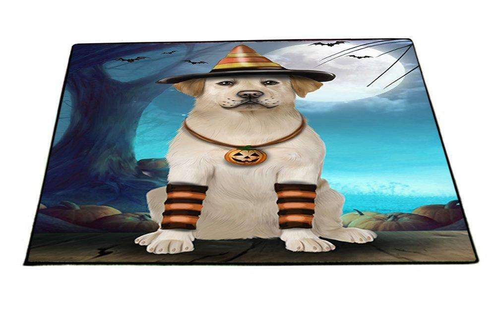 Happy Halloween Trick or Treat Labrador Retriever Dog Candy Corn Indoor/Outdoor Floormat