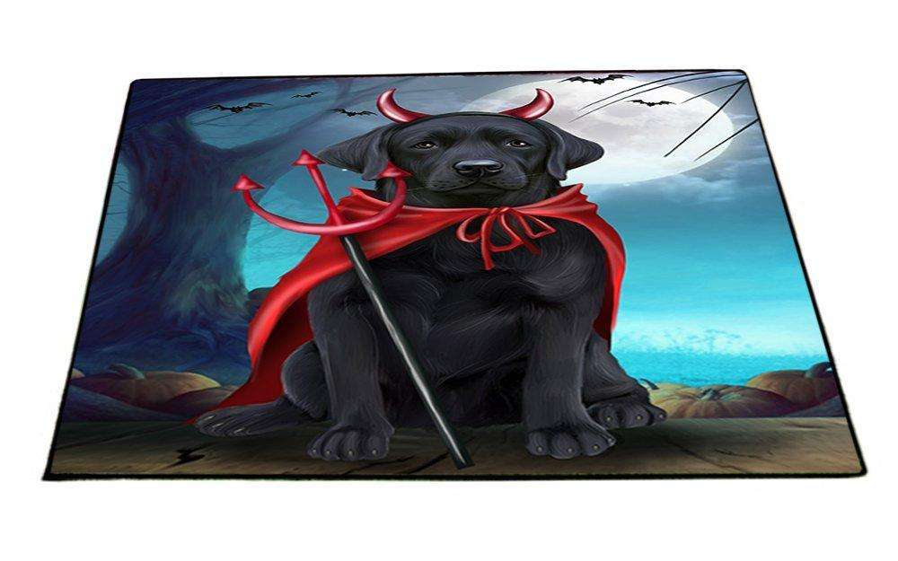 Happy Halloween Trick or Treat Labrador Retriever Dog Devil Indoor/Outdoor Floormat