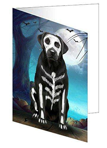 Happy Halloween Trick or Treat Labrador Retriever Dog Skeleton Note Card