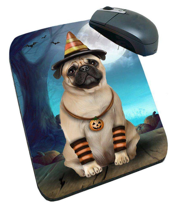 Happy Halloween Trick or Treat Pug Dog Candy Corn Mousepad