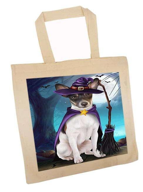 Happy Halloween Trick or Treat Rat Terrier Dog Witch Tote TTE52568