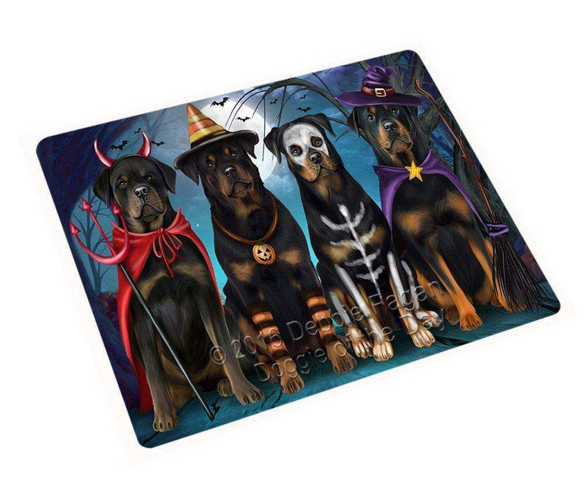 "Happy Halloween Trick Or Treat Rottweiler Dog Magnet Mini (3.5"" x 2"")"