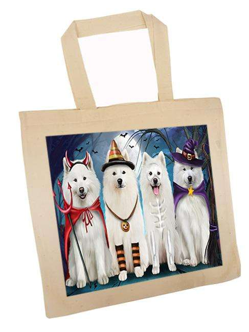 Happy Halloween Trick or Treat Samoyed Dog Tote TTE52588