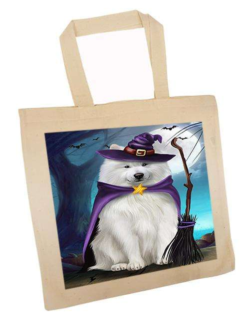 Happy Halloween Trick or Treat Samoyed Dog Witch Tote TTE52569