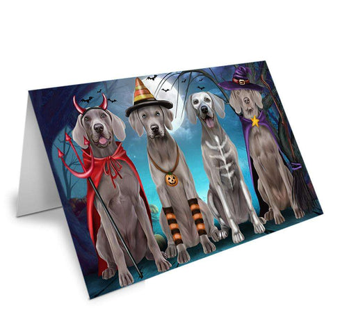Happy Halloween Trick or Treat Weimaraner Dog Note Card NCD61799