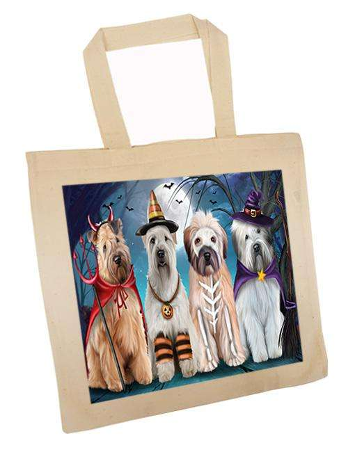 Happy Halloween Trick or Treat Wheaten Terrier Dog Tote TTE52591