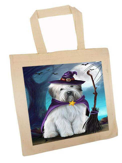 Happy Halloween Trick or Treat Wheaten Terrier Dog Witch Tote TTE52572