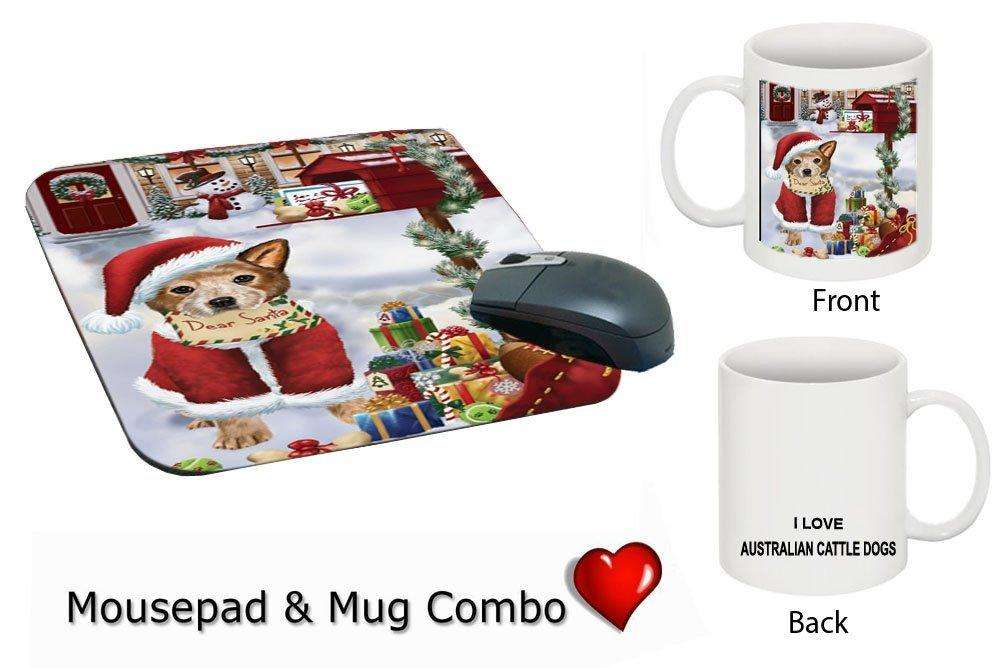 Happy Holidays Mailbox Australian Cattle Dog Christmas Mug & Mousepad Combo Gift Set MMCG0121