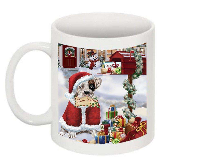 Happy Holidays Mailbox Boxer Dog Christmas Mug CMG0085