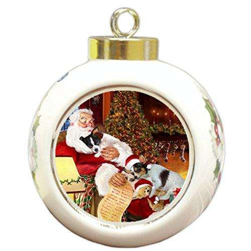 Happy Holidays with Santa Sleeping with Christmas Chihuahua Dogs Holiday Ornament