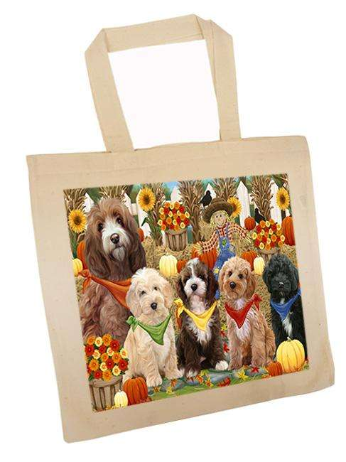 Harvest Time Festival Day Cockapoos Dog Tote TTE52368