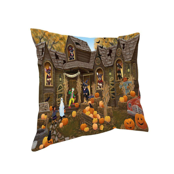 Haunted House Halloween Trick or Treat Australian Kelpies Dog Pillow PIL67960