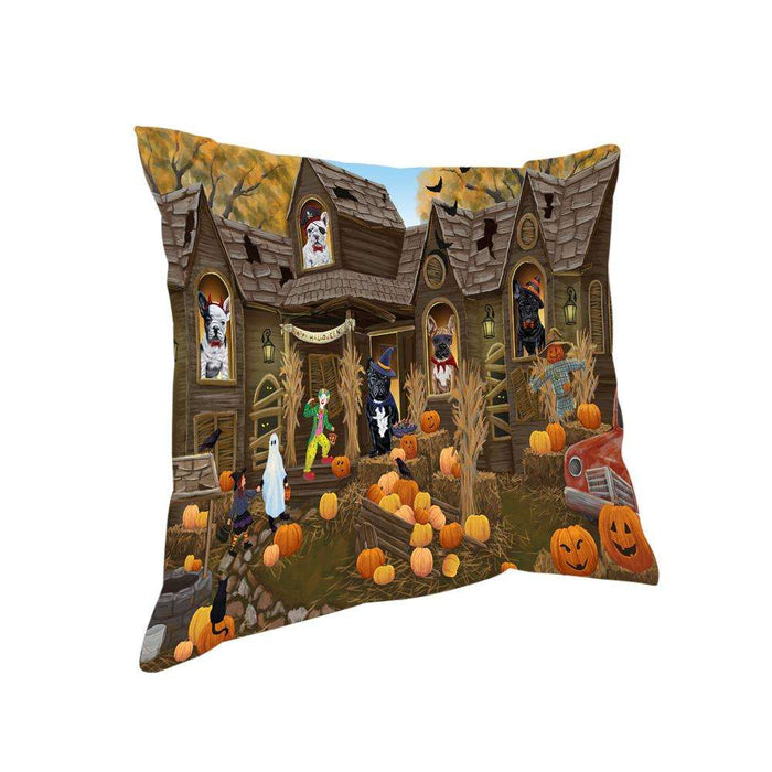 Haunted House Halloween Trick or Treat French Bulldogs Pillow PIL68088