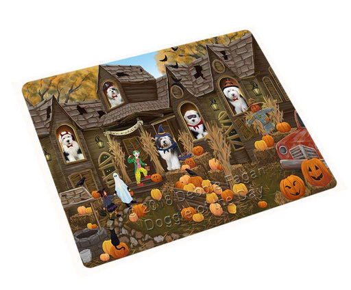 Haunted House Halloween Trick or Treat Old English Sheepdogs Cutting Board C63090
