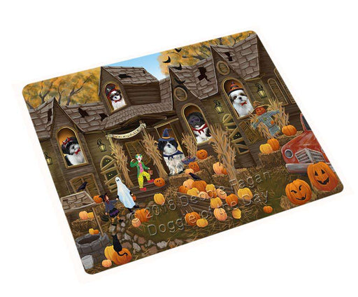 "Haunted House Halloween Trick Or Treat Shih Tzus Dog Magnet Small (5.5"" x 4.25"") mag63144"