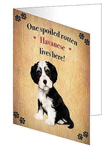 Havanese Spoiled Rotten Dog Greeting Card