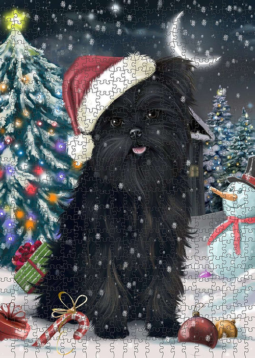 Have a Holly Jolly Affenpinscher Dog Christmas Puzzle with Photo Tin PUZL1767