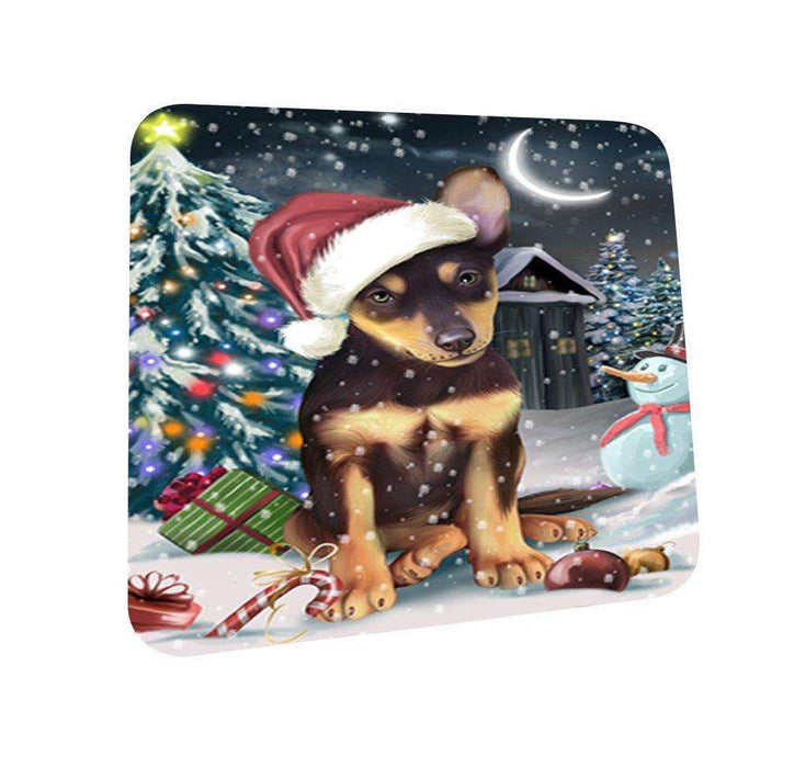 Have a Holly Jolly Australian Kelpie Dog Christmas Coasters CST621 (Set of 4)