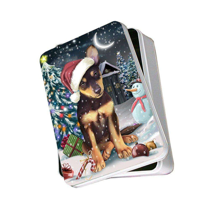 Have a Holly Jolly Australian Kelpie Dog Christmas Photo Storage Tin PTIN0078