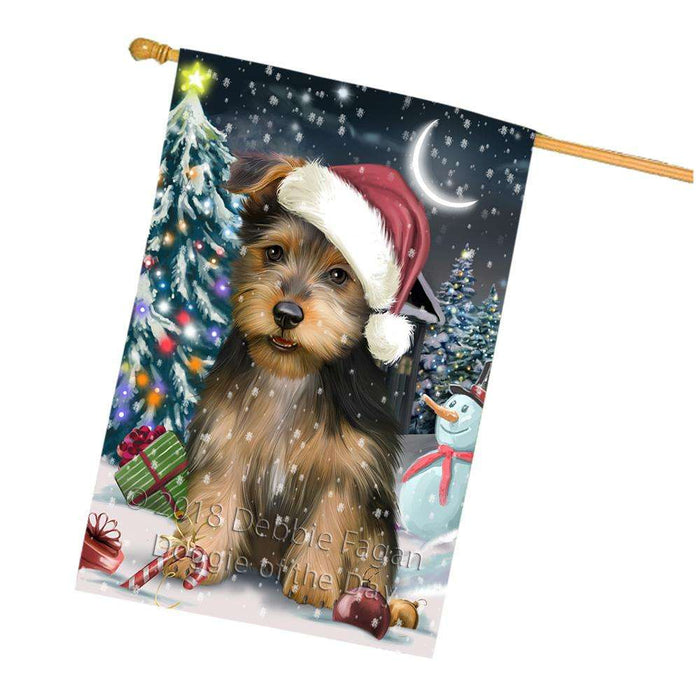Have a Holly Jolly Australian Terrier Dog Christmas  House Flag FLG51759