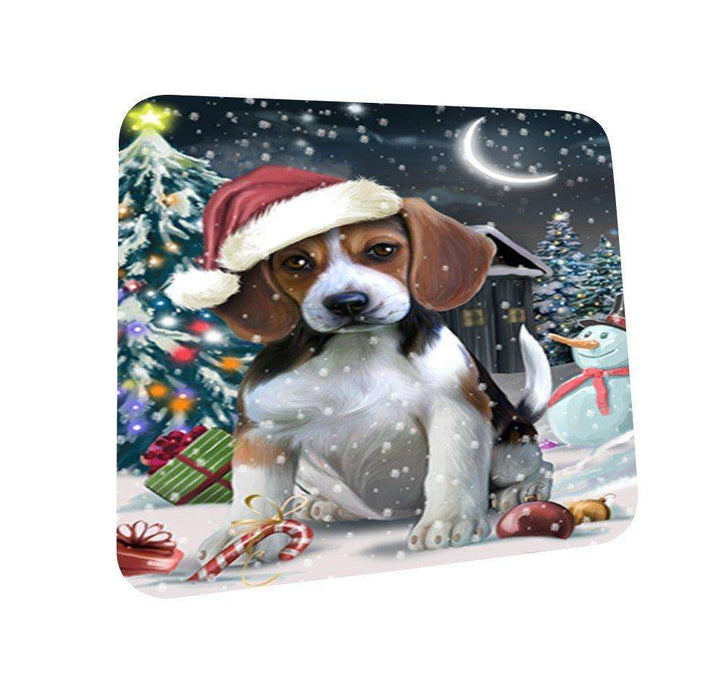 Have a Holly Jolly Beagle Dog Christmas Coasters CST625 (Set of 4)